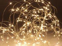 Vorschau: LED-Lichterkette, warmweiß, 200 LEDs, halbtransparent, 230V~, Innen/Außen