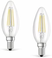 Vorschau: LED-Lampe BASE CLASSIC B, E14, EEK: A++, 4 W, 470 lm, 2700 K, B40, 2 Stück