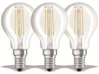 Vorschau: LED-Lampe OSRAM BASE CLASSIC P, E14, EEK: E, 4 W, 470 lm, 2700 K, 3 Stück