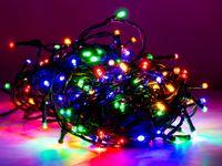 Vorschau: LED-Lichterkette, 720 LEDs, bunt, 230V~, IP44, Innen/Außen