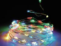 Vorschau: LED-Lichterkette, Silberdraht, 20 LEDs, bunt, Batteriebetrieb, Timer