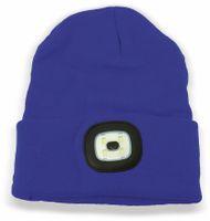 Vorschau: Beanie Mütze mit 4 LEDs, 120lm, blau