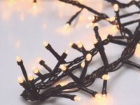 Vorschau: LED-Büschellichterkette, 400 LEDs, warmweiß, 230V~, IP44, 11 m, Timer, FB