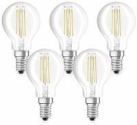 Vorschau: LED-Lampe OSRAM BASE CLASSIC P, E14, EEK: A++, 4 W, 470 lm, 2700 K, 5 Stk.
