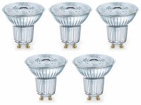 Vorschau: LED-Lampe OSRAM LED BASE PAR16, GU10, EEK F, 4,3 W, 350 lm, 2700 K, 5 Stk.