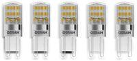 Vorschau: LED-Lampe OSRAM PARATHOM, G9, EEK: A++, 1,9 W, 200 lm, 2700 K, 5 Stück