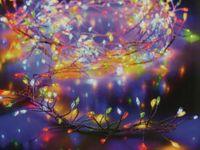 Vorschau: LED-Büschellichterkette Silberdraht, 960 LEDs, bunt, 230V~, IP44, 14,6m