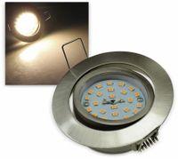 "Vorschau: LED-Einbauleuchte ""Flat-32"" EEK A+, 5 W, 470 lm, 2900 K, Edelstahl"