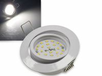 "Vorschau: LED-Einbauleuchte ""Flat-32"" EEK A+, 5 W, 440 lm, 4000 K, weiß, dimmbar"