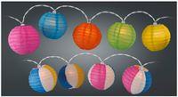 Vorschau: Sommerlichterkette, 10 Lampions, verschiedene Ausführungen