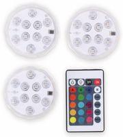 Vorschau: Grundig SET 3x LED RGB Leuchten inkl. Fernbedienung