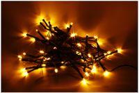 Vorschau: LED-Lichterkette, 50 LEDs, Bernstein, Batteriebetrieb, IP44, Timer 6h