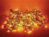Vorschau: LED-Büschellichterkette, 400 LEDs, Bernstein, Netzbetrieb, IP44, Timer 6h