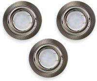 Vorschau: LED-Einbauleuchten Set VT 4444 (8884), GU10, EEK: A+, 5W, 400lm, 3000K, Nickel satiniert, 3 Stück