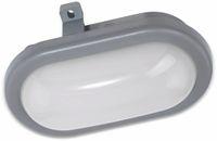 Vorschau: LED-Oval-Armatur PESCOLLA, EEK: A+, 5,5 W, 560 lm, 4000 K, IP65 170 mm, grau