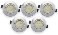 Vorschau: 5er Set LED-Einbauleuchte DAYLITE EBL-WW, EEK: A+, 4 W, 400 lm, 3000 K, Nickel satiniert