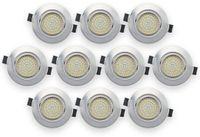 Vorschau: 10er Set LED-Einbauleuchte DAYLITE EBL-WW, EEK: A+, 4 W, 400 lm, 3000 K, Nickel satiniert