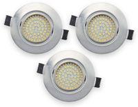 Vorschau: 3er Set LED-Einbauleuchte DAYLITE EBL-NW, EEK: A+, 4 W, 400 lm, 4000 K, Nickel satiniert