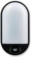 Vorschau: LED-Oval Leuchte TOLEDO, 20 W, 1400 lm, 4000 K, IP 65, Bewegungsmelder schwarz