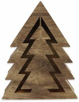 Vorschau: Deco-Holz Baum mit 10 LEDs, GT-TT-02, dunkelbraun, B-Ware