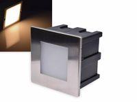 Vorschau: LED-Einbauleuchte CHILITEC Cuadrado Eco, EEK: A+, 1,5 W, 38 lm, 3000K, 80x80 mm