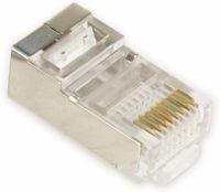 Vorschau: Western-Modularstecker für Rundkabel, 8P8C, 10 Stück