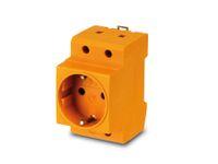Vorschau: Schutzkontakt-DIN-Steckdose, gelb