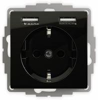Vorschau: Schutzkontakt-Steckdose 2USB inCharge Pro, 2x USB, 2,4 A, schwarz