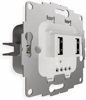 Vorschau: USB Ladestation 2USB chargeUP TAE,2x USB, 2,4 A, reinweiß glänzend