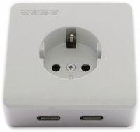 Vorschau: Schutzkontakt-Steckdose 2USB easyCharge 8080, AP, 2x USB, 2,4A, Handyhalter