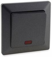 Vorschau: Kontrollschalter MILOS 23039, 10A/250V~, mit Lämpchen, anthrazit