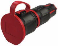 Vorschau: Schutzkontaktkupplung PCE TopTaurus2, mit Deckel, schwarz/rot