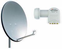Vorschau: Set SAT-Antenne RED OPTICUM X80 anthrazit, mit Quad-LNB RED OPTICUM LQP-04H