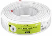Vorschau: Koaxialkabel GOOBAY 49759, 50 m, weiß, 5 mm, CCS, 75 dB
