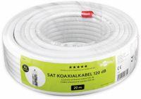 Vorschau: Koaxialkabel GOOBAY 49761, 20 m, weiß, 7,2 mm, CCS, 120 dB
