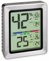 Vorschau: Digitales Thermo-Hygrometer TFA Exacto, 30.5047.54, silber