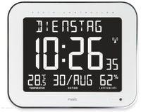 Vorschau: Digitale Tischuhr ALECTO FK-777, mit Thermometer und Hygrometer, weiß
