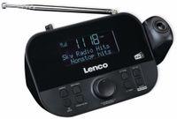 Vorschau: DAB+/FM Uhrenradio LENCO CR-615BK, mit Projektor, schwarz