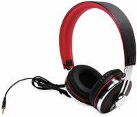 Vorschau: Over-Ear Kopfhörer TYPHOON RockStar TM028, schwarz/rot