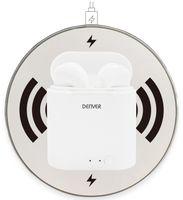 Vorschau: In-Ear Ohrhörer DENVER TWQ-40P, weiß, mit QI-Ladeschale