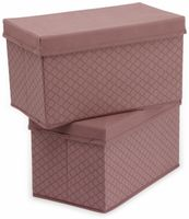 Vorschau: Faltboxen, Regalboxen, rosa, 2 Stück