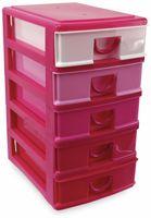 Vorschau: Box mit 5 Laden, 130x180x245 mm, pink