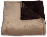 Vorschau: Elektrische Fleece-Decke TREBS 99342, 160 W, braun und beige