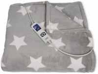 Vorschau: Elektrische Fleece-Decke TREBS 99343, 160 W, grau mit Sterne
