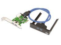 Vorschau: USB 3.0 PCIe-Karte mit Frontpanel