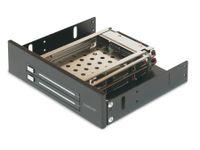 """Vorschau: SATA-Wechselrahmen, 2x 6,35 cm (2,5"""") für 5,25""""-Schacht"""