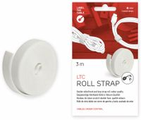 Vorschau: Klett-Rolle LABEL THE CABLE Roll Strap, 3 m, 16 mm, weiß