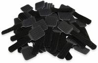 Vorschau: Klett-Kabelbinder LTC WALL STRAPS, schwarz, 50 Stück
