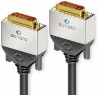 Vorschau: DVI-Kabel SONERO Premium, 1 m, Dual Link, Stecker/Stecker (24+1)