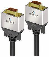 Vorschau: VGA-Anschlusskabel SONERO Premium, 1 m, Stecker/Stecker, Full-HD